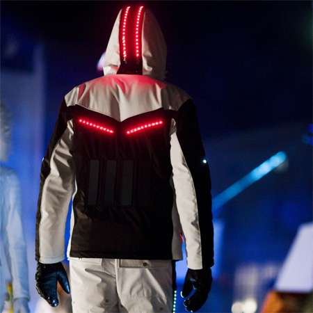 Solar Powered LED Ski Suit