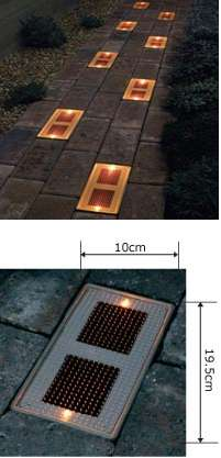 Solar Powered Masonry Brick Lights Offer Eco Friendly