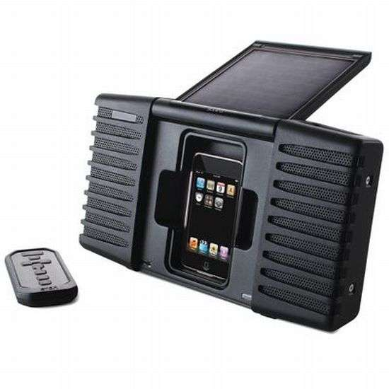 Solar Powered iPod Speaker