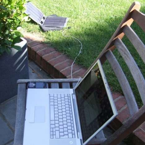 Sun-Powered Laptop Chargers