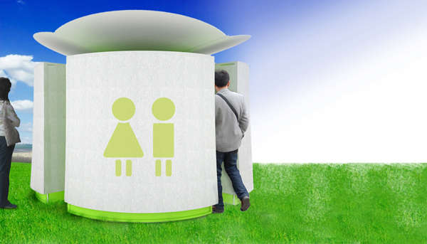 solar-powered toilet
