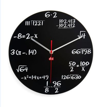 Difficult Math Equation Clocks