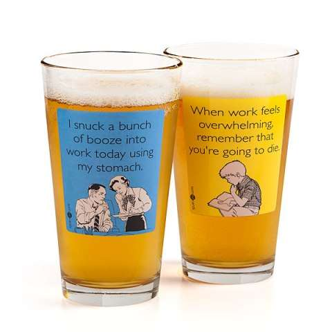 Someecard Pint Glass