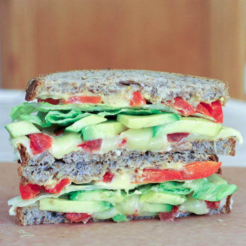 Garden Grilled Cheese Sandwiches