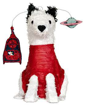 space dog pinata