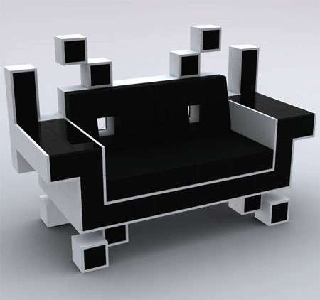 8-Bit Alien Couches