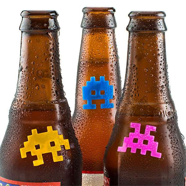 space invaders beer markers