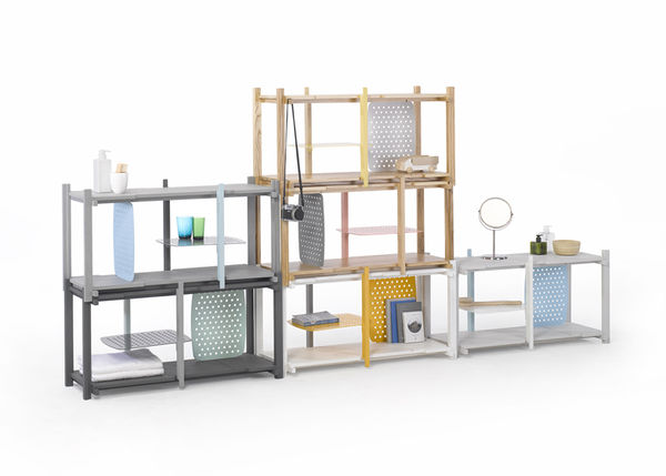 Stacked Modular Shelving