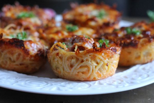 Scrumptious Spaghetti Muffins