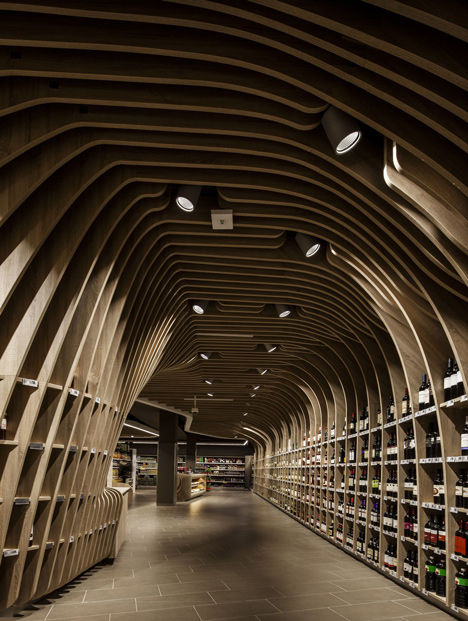 Cavernous Curved Wine Markets