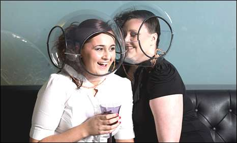 speech bubble helmets