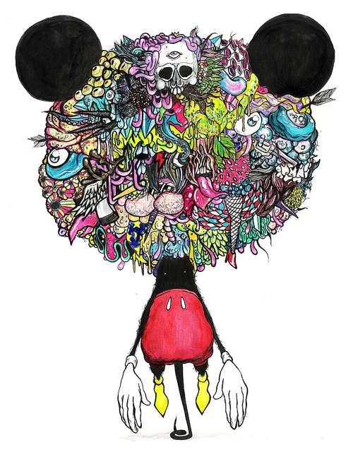 Mutated Mascot Drawings