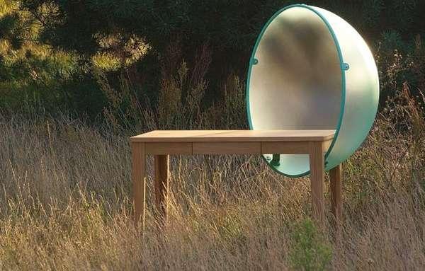 Sphere-Shielded Desks
