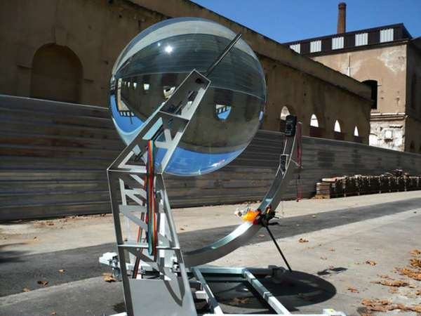 Spherical Glass Solar Energy Generator by Andre Rawlemon