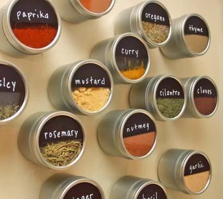 Magnetic Seasoning Storage Tins