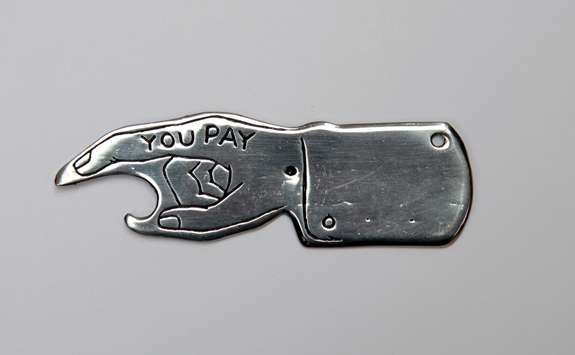 'Spin To See Who Pays' Bottle Opener