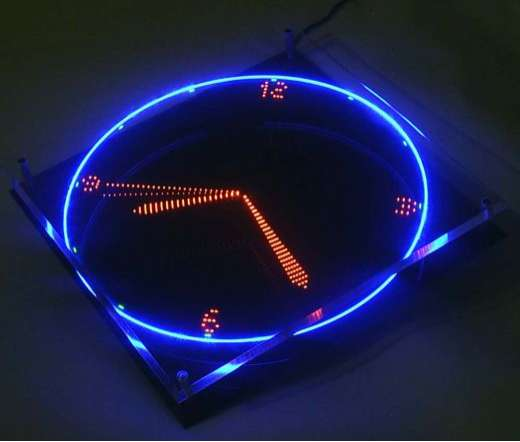 Led illusion clocks a motorized transforming timepiece Cool digital wall clock