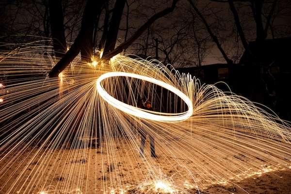 Fire-Raining Photography