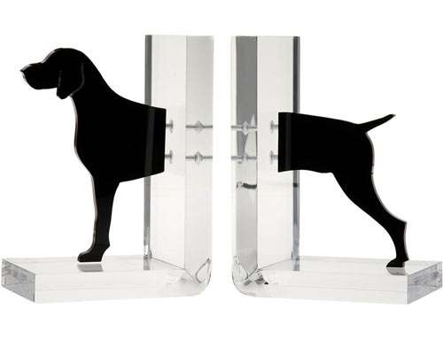 Disconnected Dog Bookends