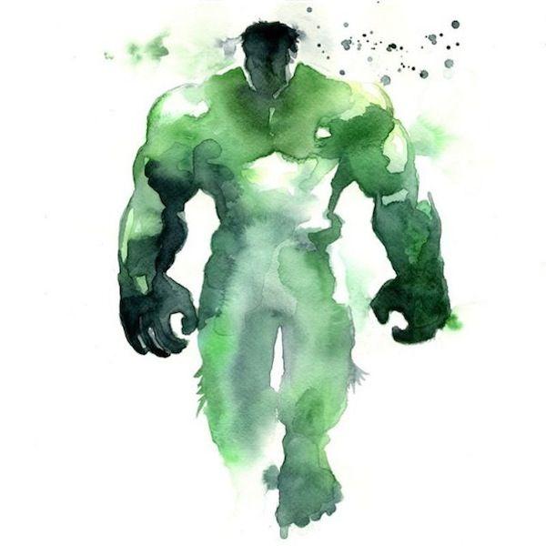 Splattered Superhero Illustrations
