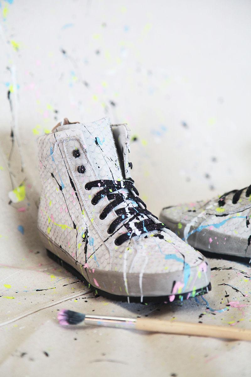 DIY Splattered Sneakers
