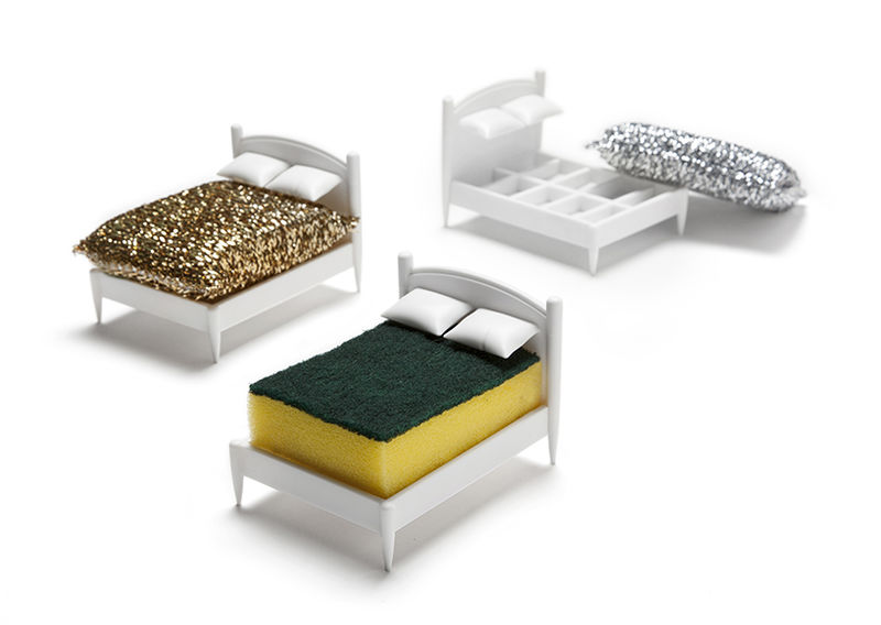 Bed-Shaped Sponge Holders