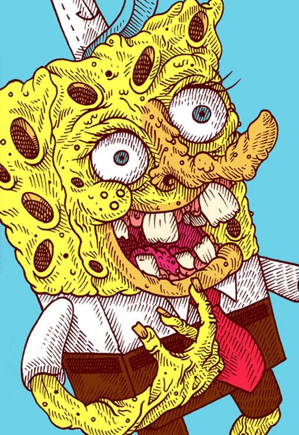 spongebob drawings