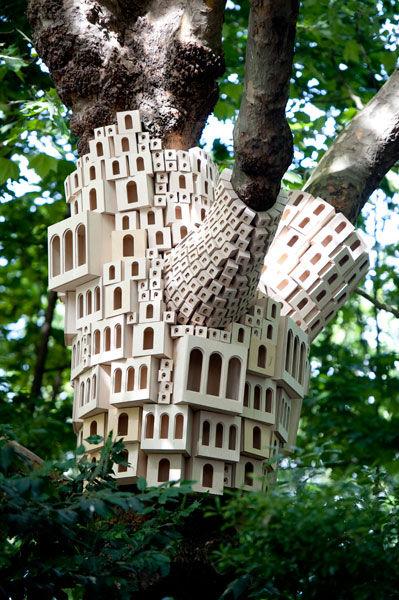 Architectural Bird House Installations