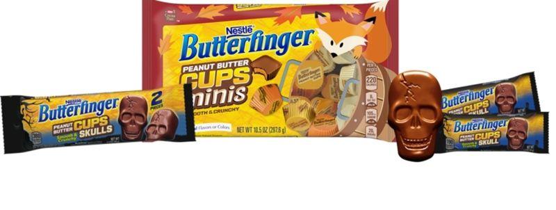 Skull-Shaped Peanut Butter Cups