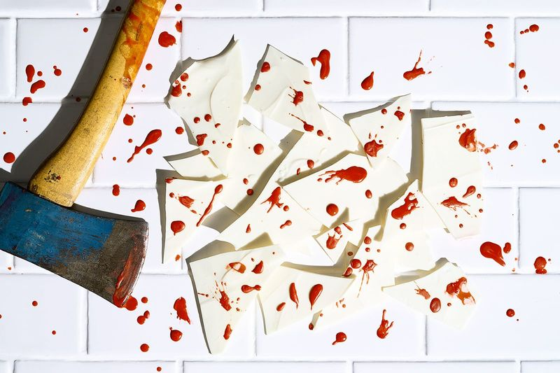 Blood-Splattered Chocolate Treats