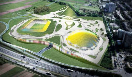 Color Changing Stadiums The Slovenia Sports Park Stozice