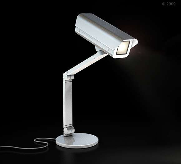 Faux Security Camera Lamps