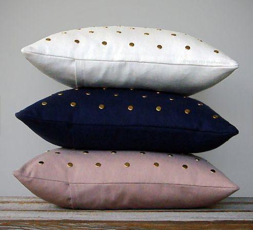 Elegantly Studded Pillows
