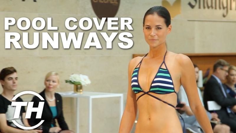 Pool cover runways spring 2015 swimwear for Pool show toronto 2015