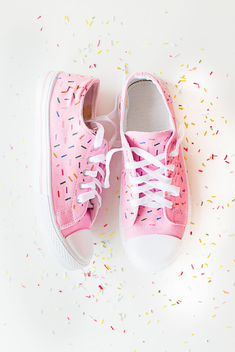 Sprinkled Sneaker DIYs