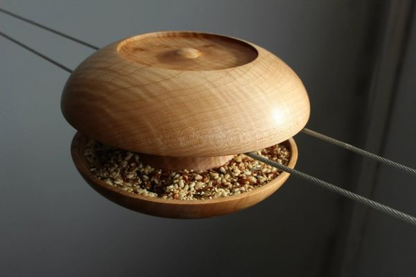 Spool-Like Bird Feeders