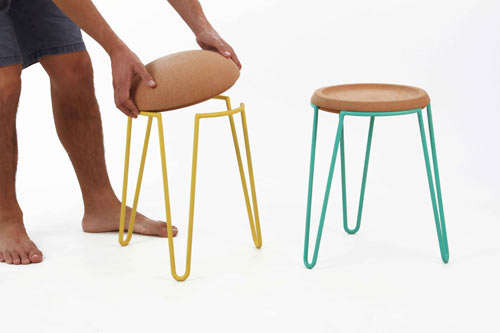 Colorful Cork Furniture