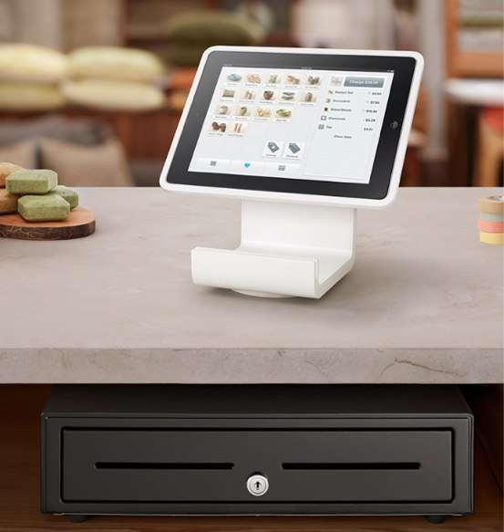 Interactive Register Tablet Stands Square Stand