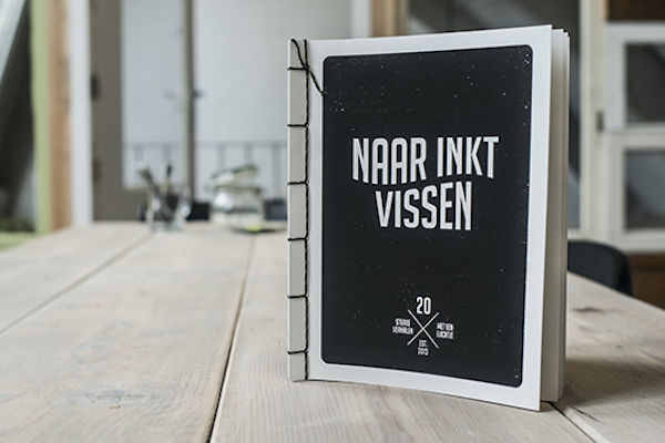 Squid Ink-Printed Books