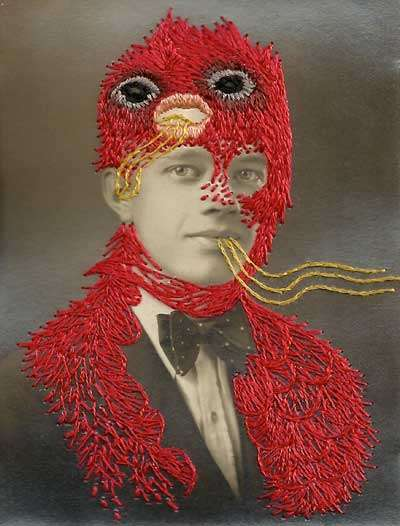 Oddly Embroidered Portraits