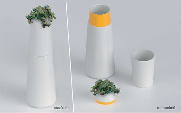 Multifunctional Stackable Carafes