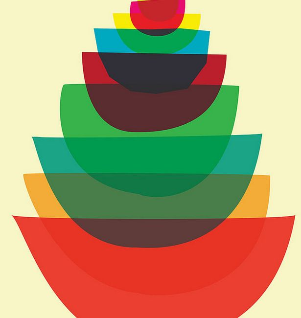 Abstract Dishware Illustrations