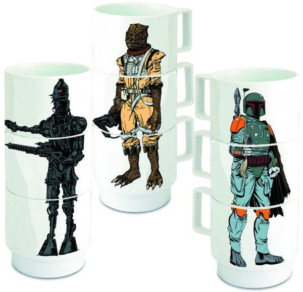 Stacking Sci-Fi Mugs