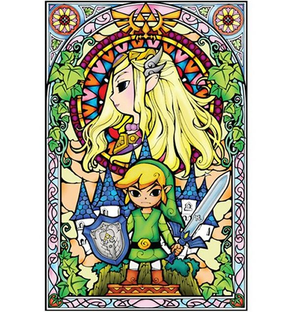 stained glass Zelda wall decals