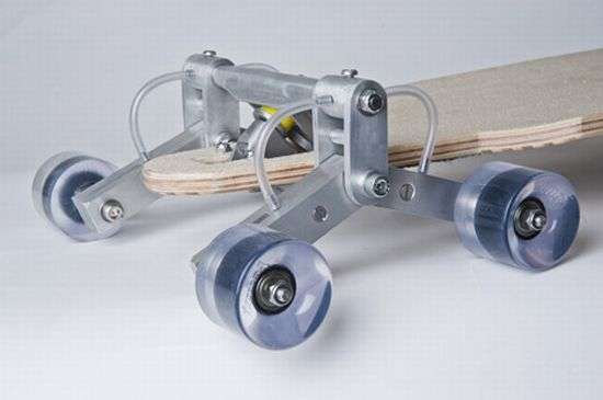 Staircase-Riding Skateboards