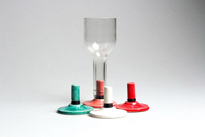 Wine Bottle Cups