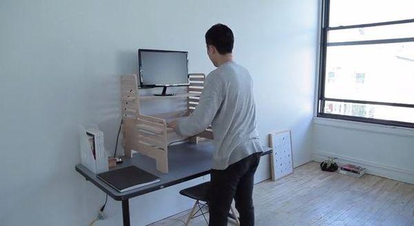 Adjustable Standing Desk Attachment