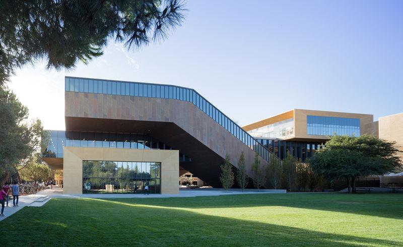 Intertwined University Buildings