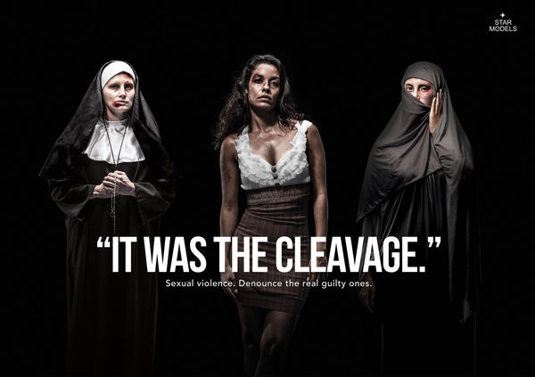 Cleavage-Blaming Abuse Ads