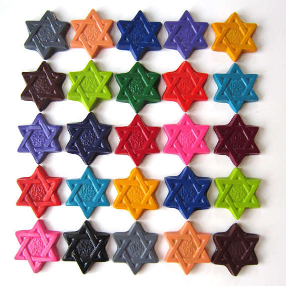 Star of David Crayons